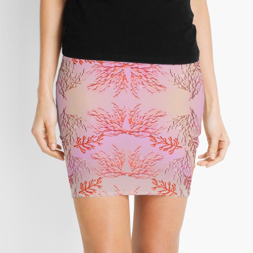 CORAL-CORAL 234. Mini Skirt