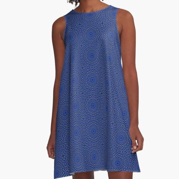 Ente auf Blau Kaleidoscope Small A-Line Dress