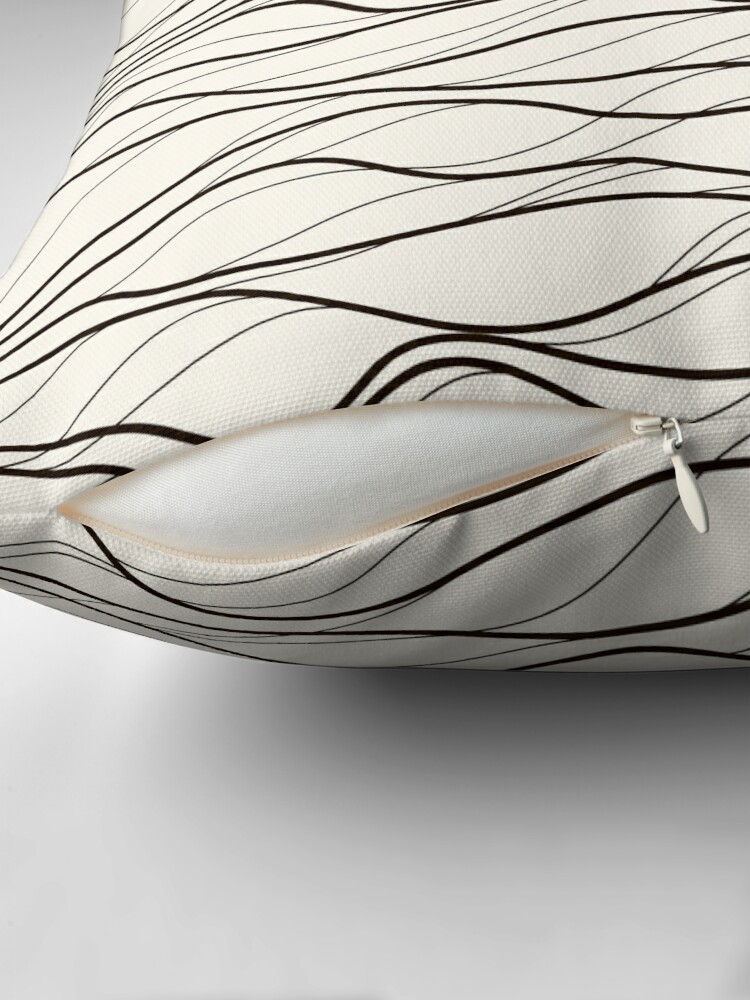 Alternate view of Wavy Stripes Pattern Light Floor Pillow