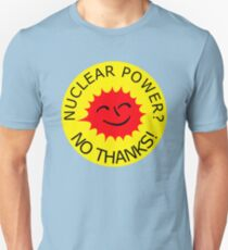 Nuclear Power No Thanks by Chillee Wilson Unisex T-Shirt