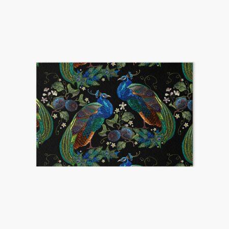 Embroidery peacocks Art Board Print