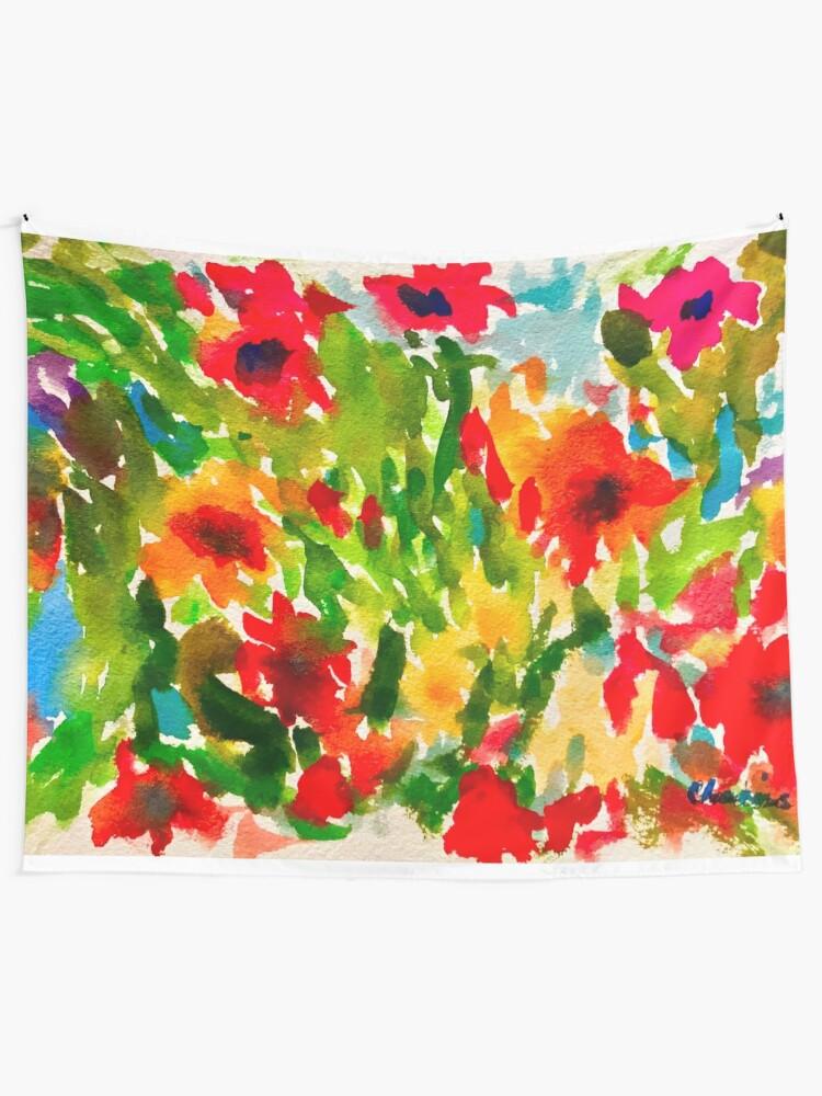 Alternate view of Flower Pop Tapestry