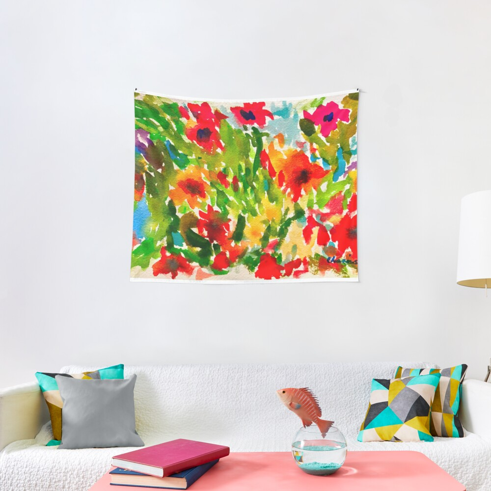 Flower Pop Tapestry