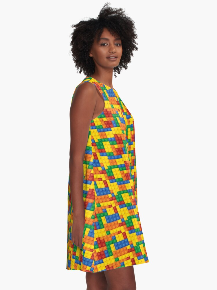 Alternate view of Color Building blocks A-Line Dress