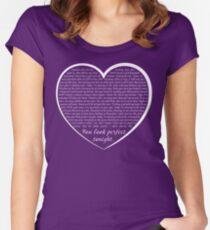 b5081d8269 Ed Sheeran Perfect Lyrics T Shirt Fitted Scoop T-Shirt