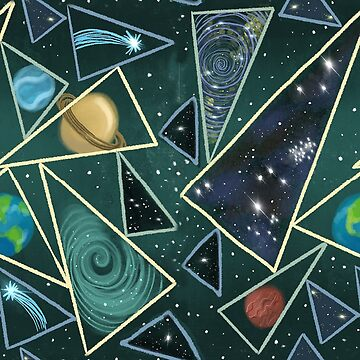 Space and planets pattern by Extreme-Fantasy