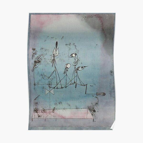 Paul Klee. Twittering Machine. Poster