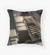 1930's Staircase - Arts and crafts centre Throw Pillow