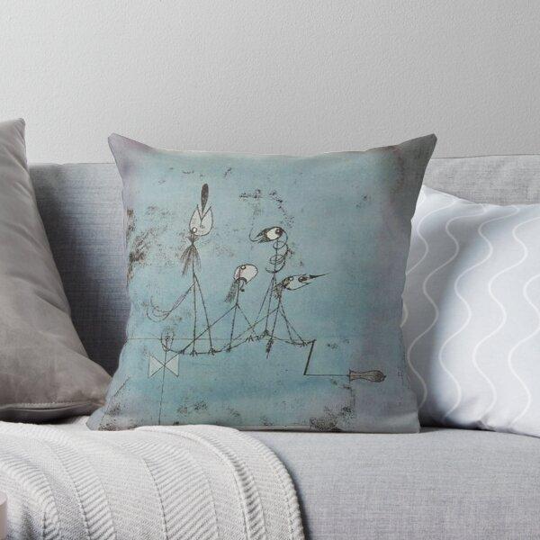 Paul Klee. Twittering Machine. Throw Pillow