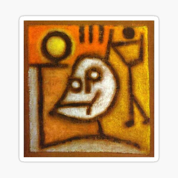 Paul Klee. Death and Fire. Sticker