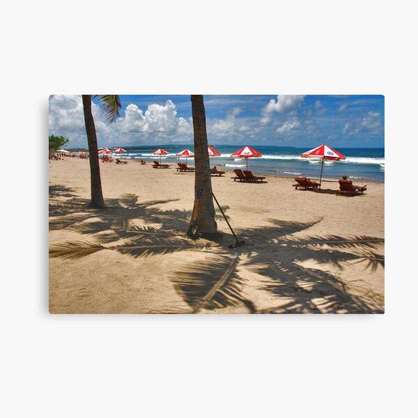 Shadows on the beach Canvas Print