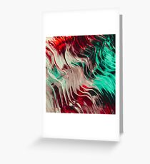 Onyx Abstract Liquid Oil Greeting Card
