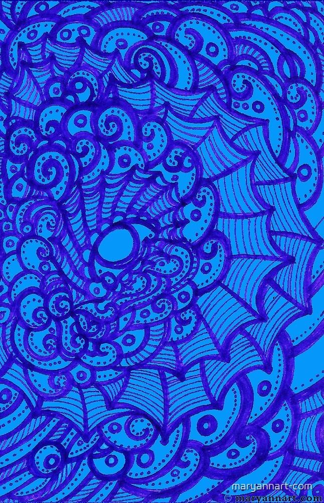 Webbed Eye in Blue by maryannart-com