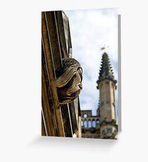 Bearded gargoyle, Magdalen College Greeting Card