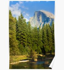 Half Dome as pseudo oil painting Poster