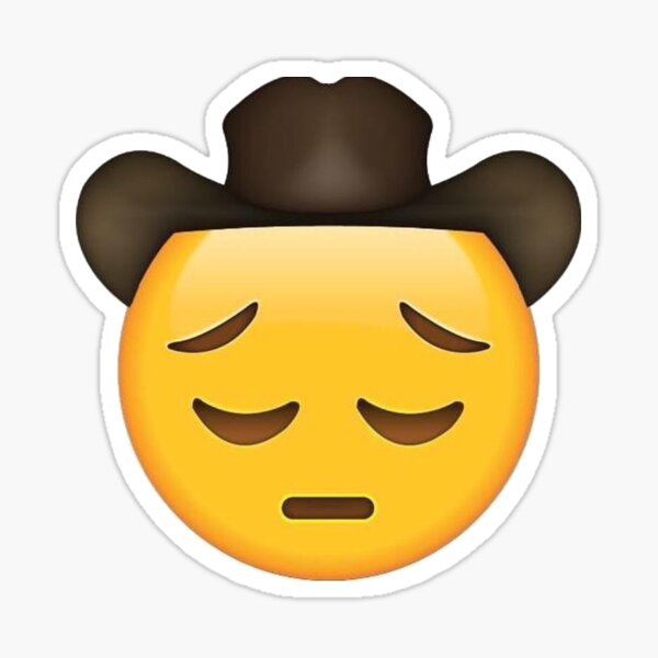 sad yeehaw emoji motif Sticker