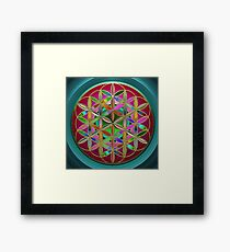 The Flower of Living Metal Framed Print