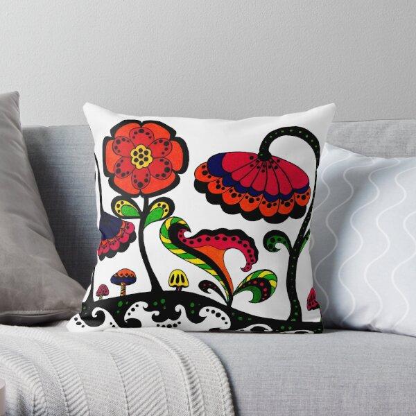Theresa's Garden Throw Pillow