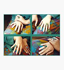 My Hands, My Father's Rings  Photographic Print