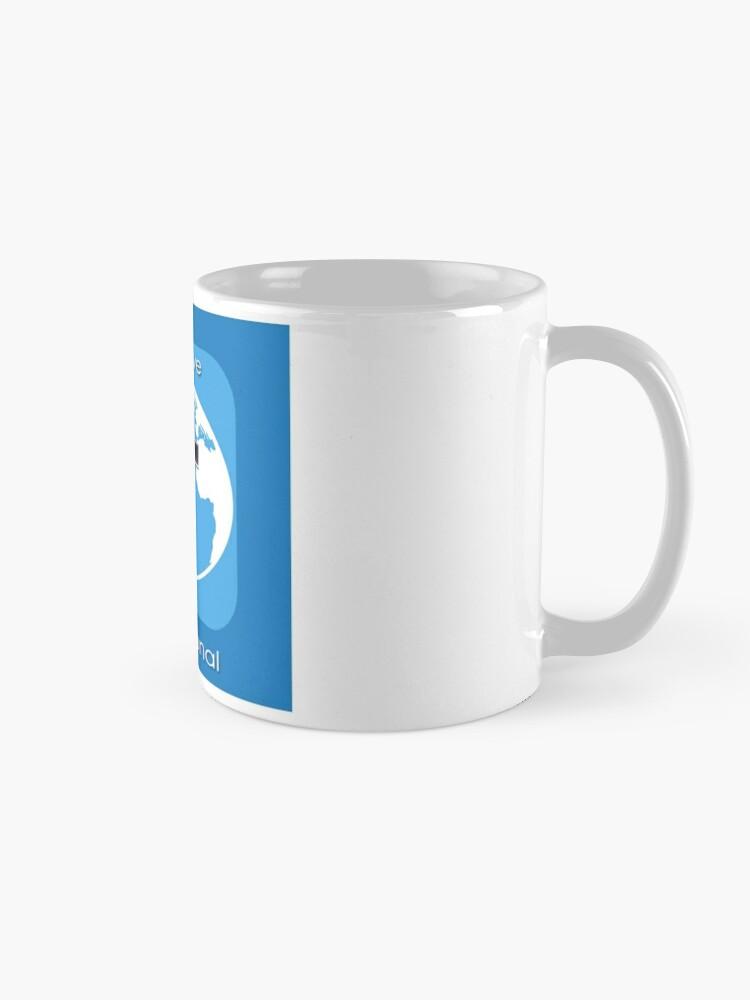Alternate view of God's Love International Mug