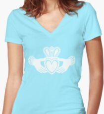 Claddagh Women's Fitted V-Neck T-Shirt