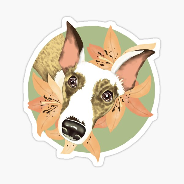 Tiger lily Whippet Sticker