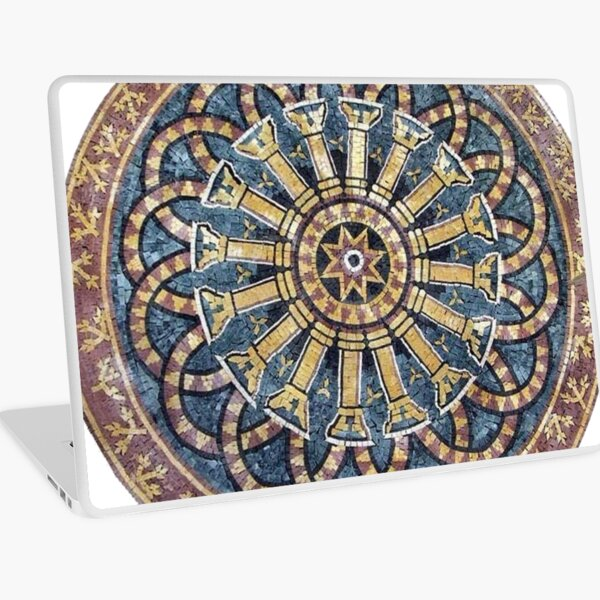 #decoration, #pattern, #art, #craft, #antique, ornate, design, flower, mosaic, aztec, abstract, chakra, circle, geometric shape, retro style, arabic style, textured, old-fashioned, square, diy Laptop Skin
