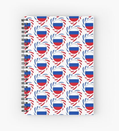 Russian American Multinational Patriot Flag Series 2.0 Spiral Notebook