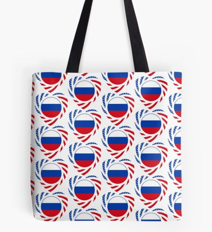 Russian American Multinational Patriot Flag Series 2.0 Tote Bag