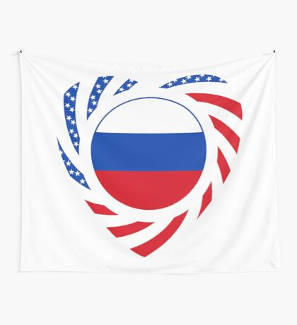 Russian American Multinational Patriot Flag Series 2.0 Wall Tapestry