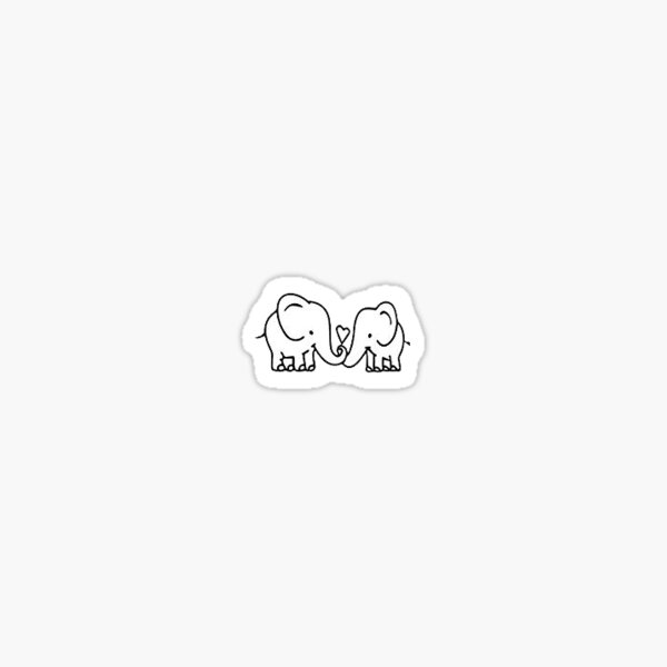 love elephants Sticker