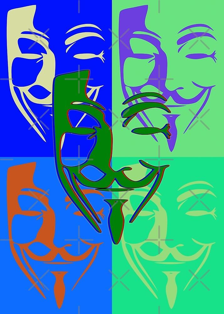 5 Fawkes PopArt von Exilant