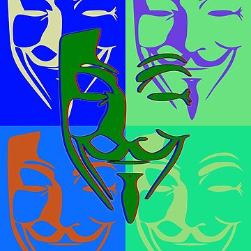 5 Fawkes Pop Art by Exilant