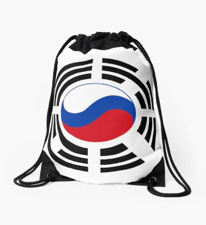Korean Russian Multinational Patriot Flag Series Drawstring Bag