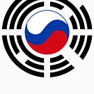 Korean Russian Multinational Patriot Flag Series by Carbon-Fibre Media