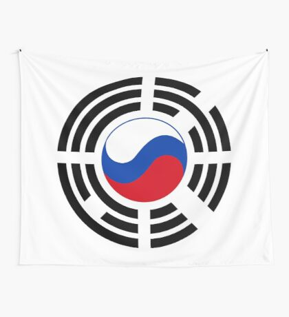 Korean Russian Multinational Patriot Flag Series Wall Tapestry