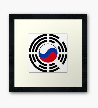 Korean Russian Multinational Patriot Flag Series Framed Print