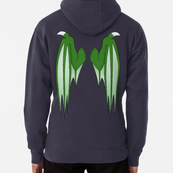 Dragon wings - green Pullover Hoodie