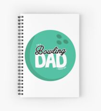 Im A Bowling Dad, Spare Me Funny Design Spiral Notebook