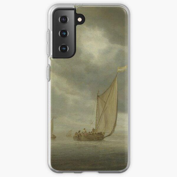 Sailing Ships on Wide Inland Water by Salomon van Ruysdael Samsung Galaxy Soft Case