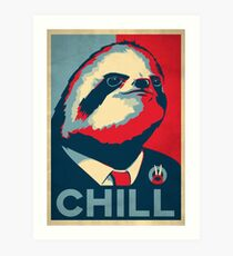 Vote Sloth Art Print