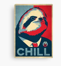 Vote Sloth Canvas Print