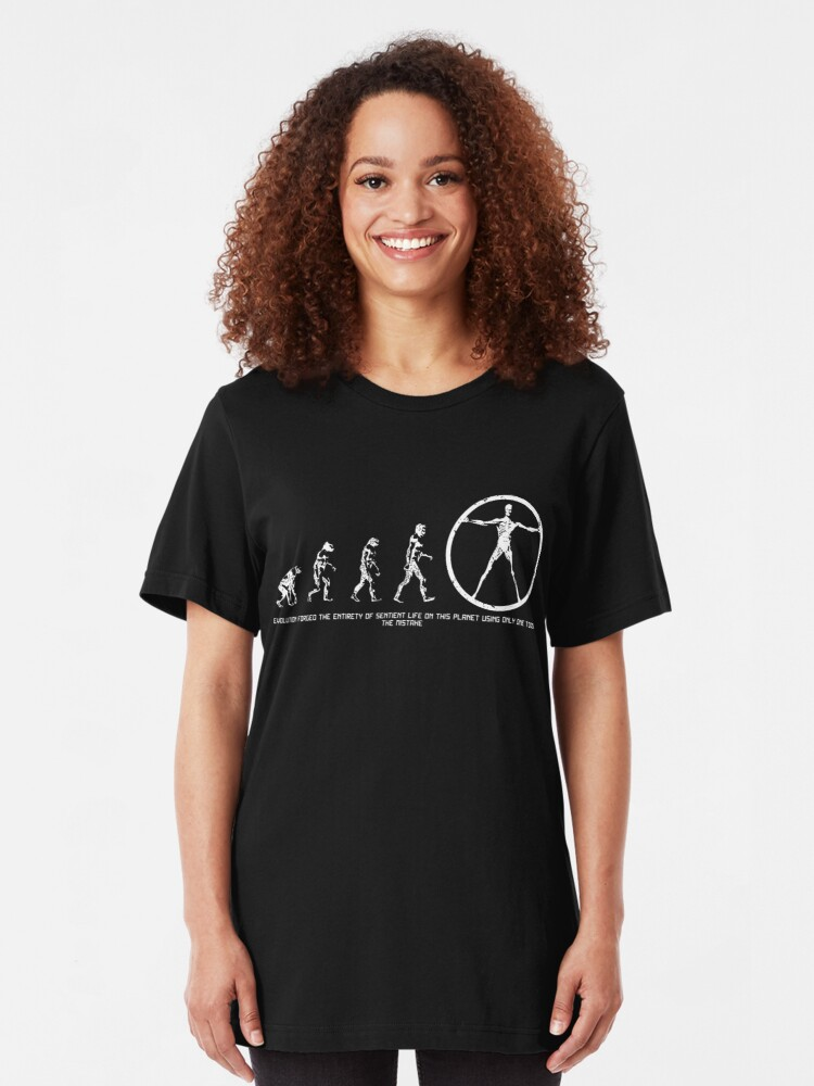 Alternative Ansicht von Entwicklung von Westworld Slim Fit T-Shirt
