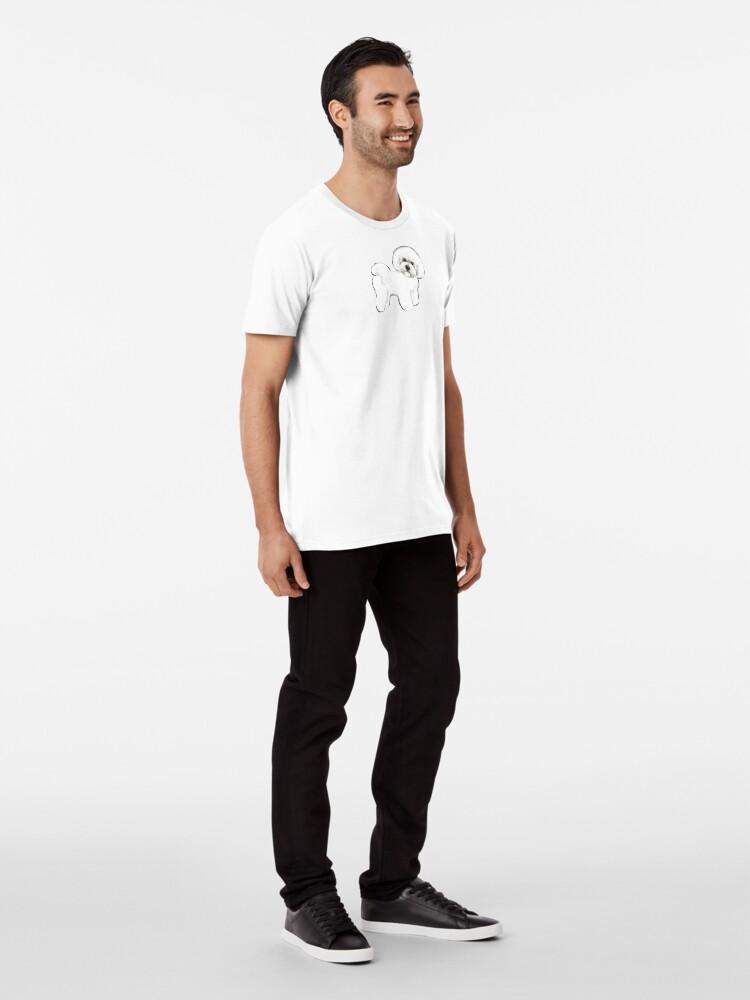 Alternate view of Bichon Firise dogs on mint Premium T-Shirt