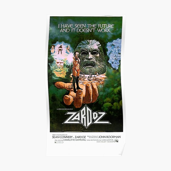 Zardoz Sean Sean Connery Charlotte Rampling cult movie poster print
