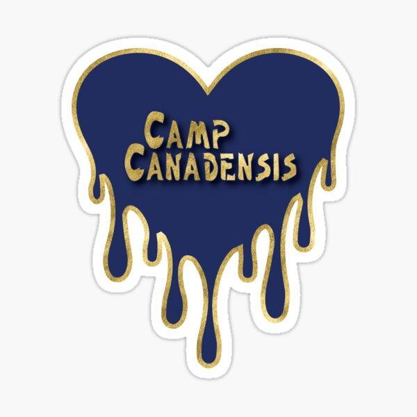 Camp Canadensis Sticker; Camp Canadensis bleeding heart; camp canadensis pillow; camp canadensis tee shirt Sticker