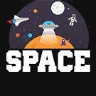 Funny I Need My Space Astronaut & Aliens Pun by perfectpresents