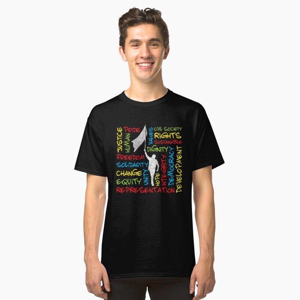 Colorful Civil Rights Activist Theme Classic T-Shirt Front