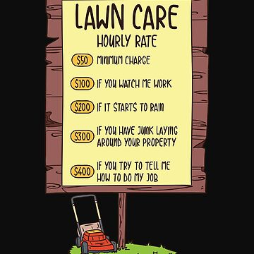 Hourly rate for lawn care by Britta75