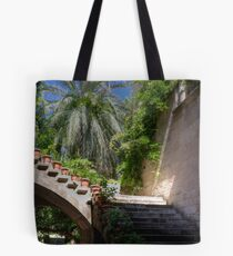 The girl on the stair Tote Bag